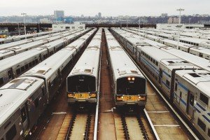 photo of trains in station for rail wastewater experts Servac