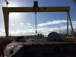 photo of Belfast's Goliath by Harland and Wolff
