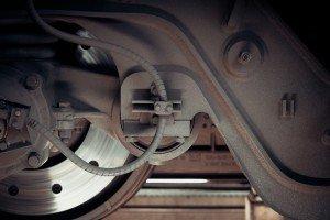 photo of train wheels for train toilet history blog